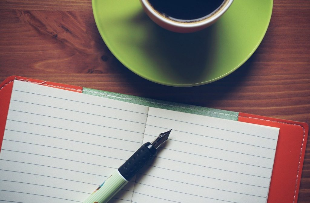 notepad, coffee, notebook